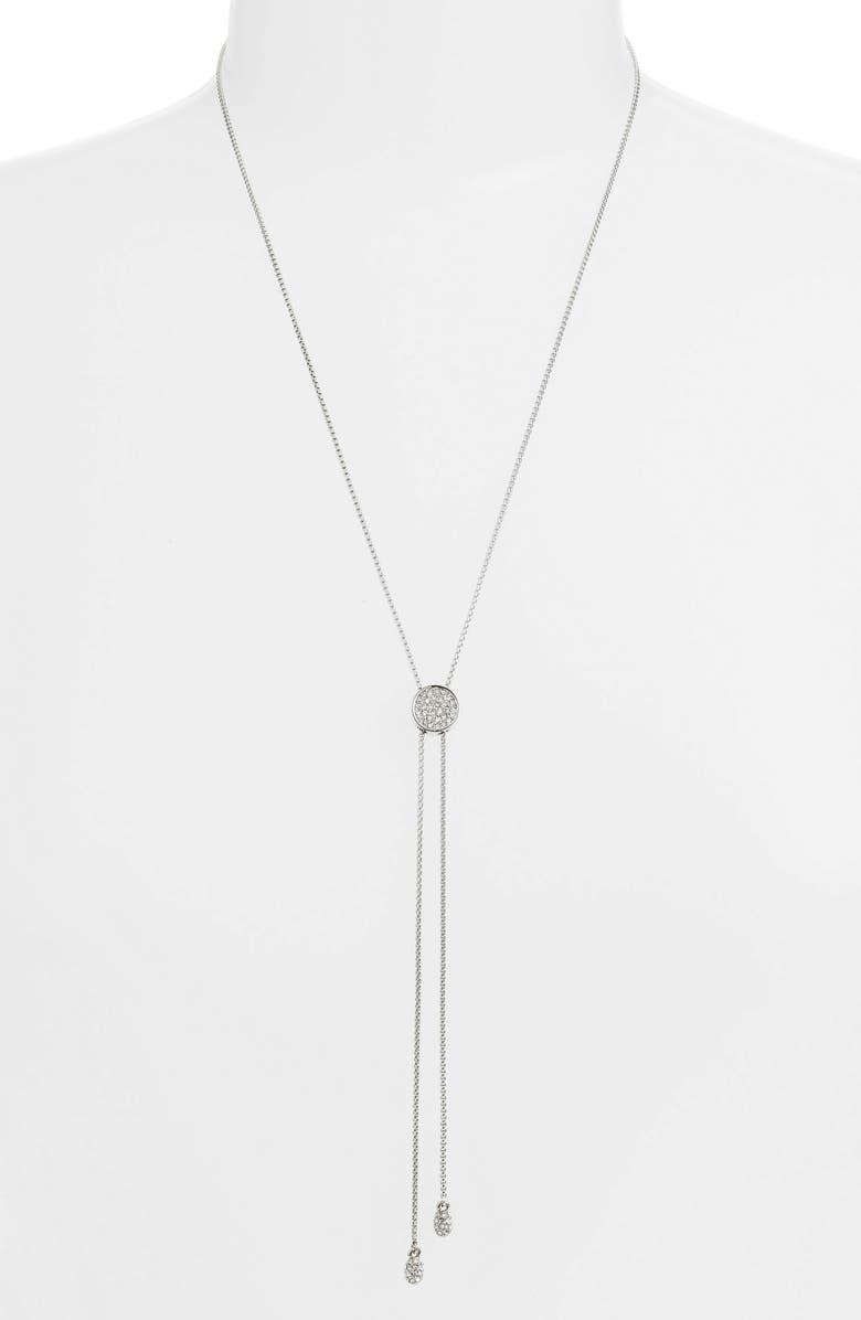 VINCE CAMUTO Pavé Slider Necklace, Main, color, SILVER/ CRYSTAL