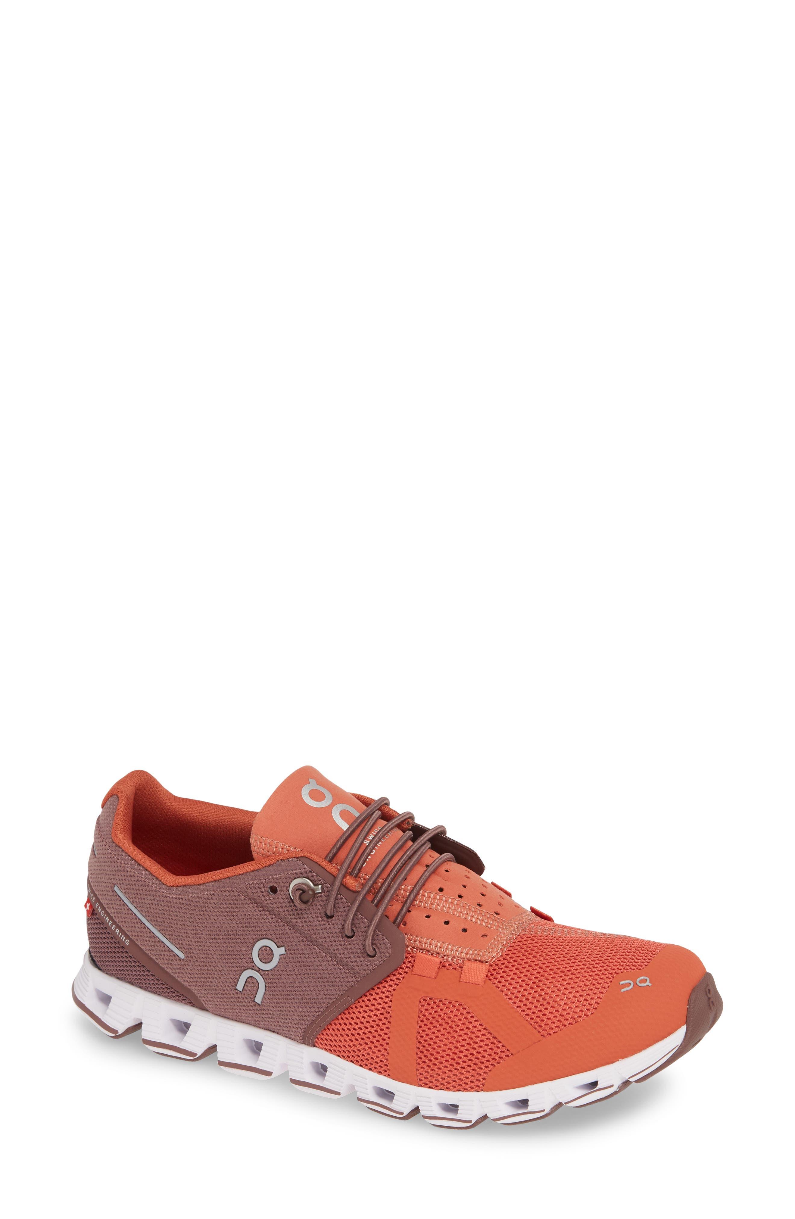 ,                             Cloud 50/50 Colorblock Running Shoe,                             Main thumbnail 1, color,                             GRAPE/ GINGER