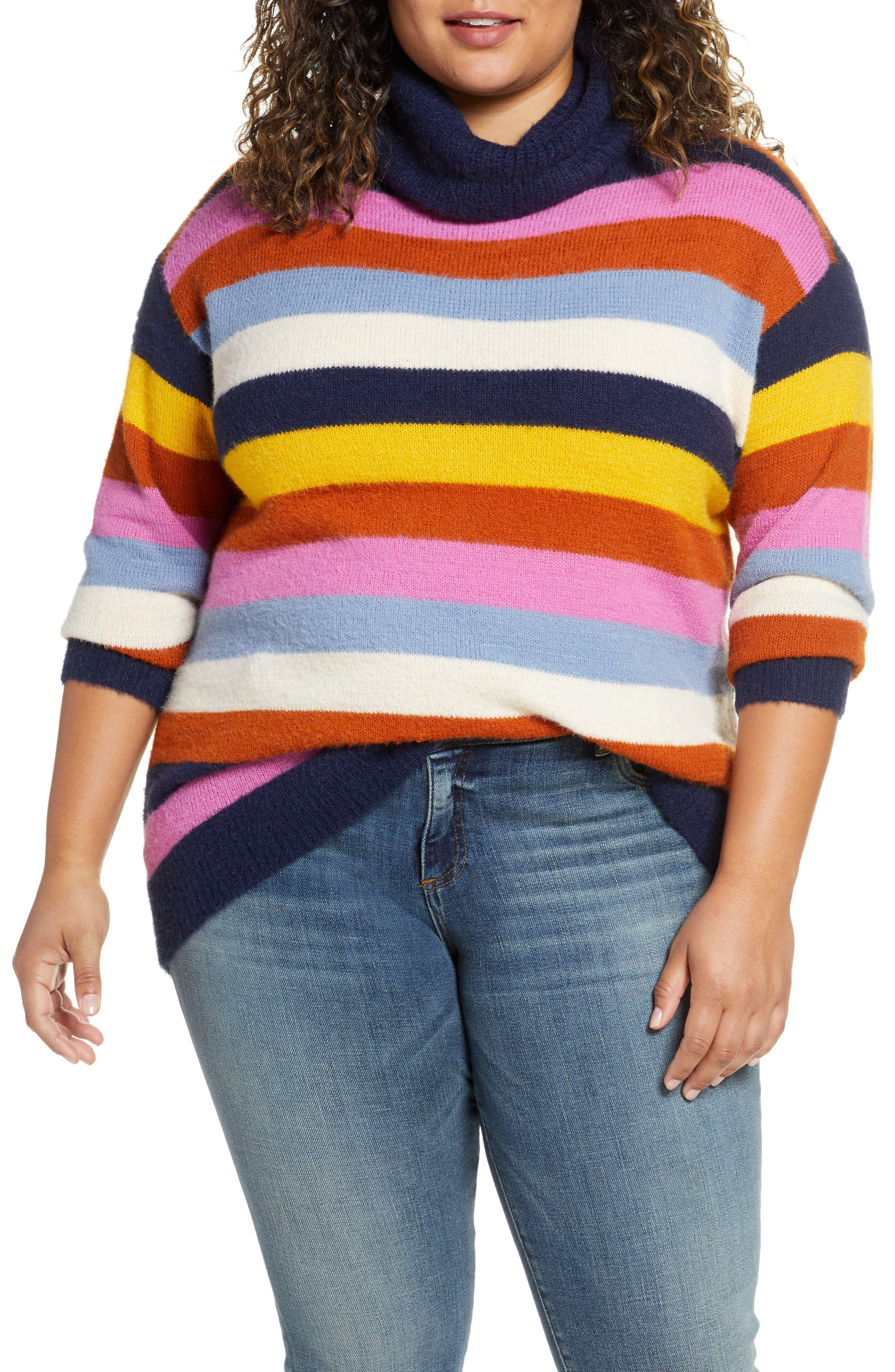 Caslon® Turtleneck Sweater (Plus Size)