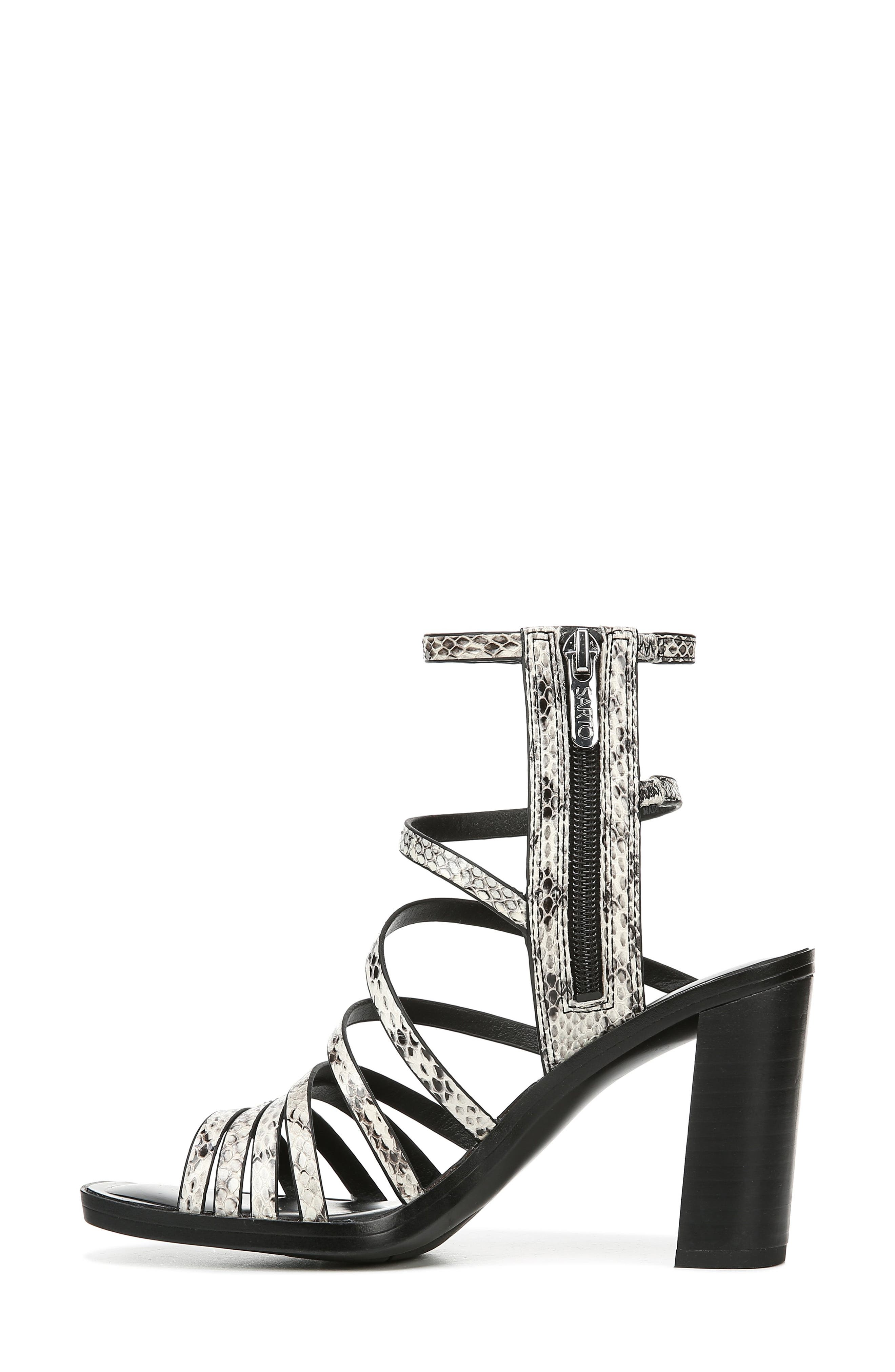 ,                             Winnie Strappy Sandal,                             Alternate thumbnail 8, color,                             BLACK/ WHITE SNAKE PRINT