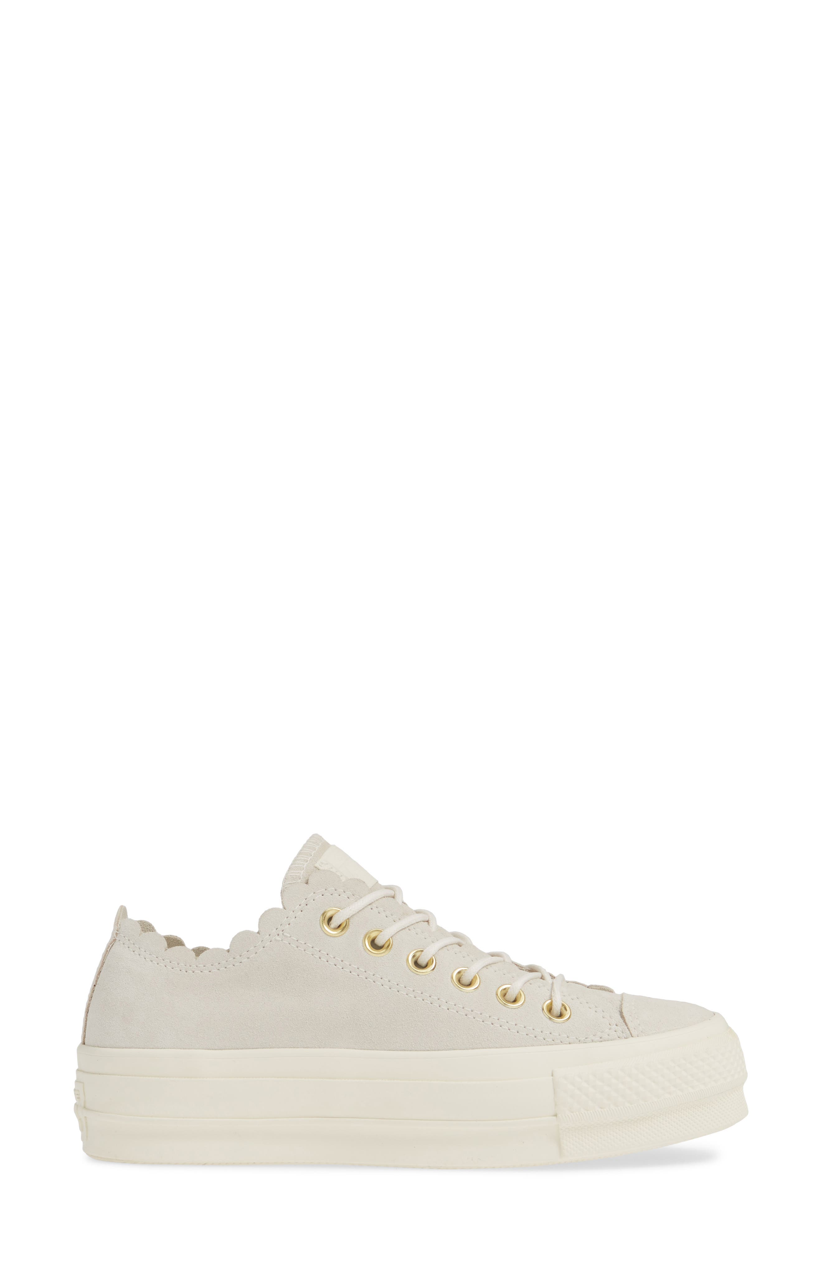 ,                             Chuck Taylor<sup>®</sup> All Star<sup>®</sup> Frilly Scallop Platform Sneaker,                             Alternate thumbnail 3, color,                             020