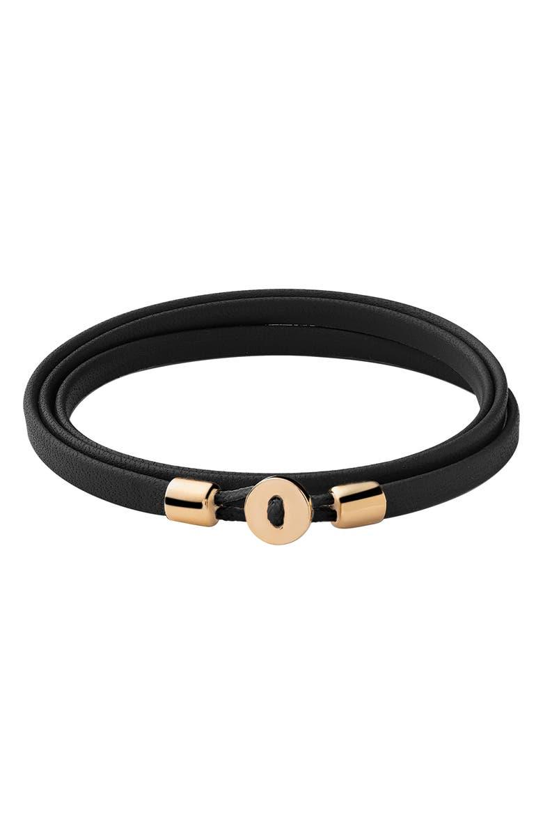 MIANSAI Nexus Leather Wrap Bracelet, Main, color, 001