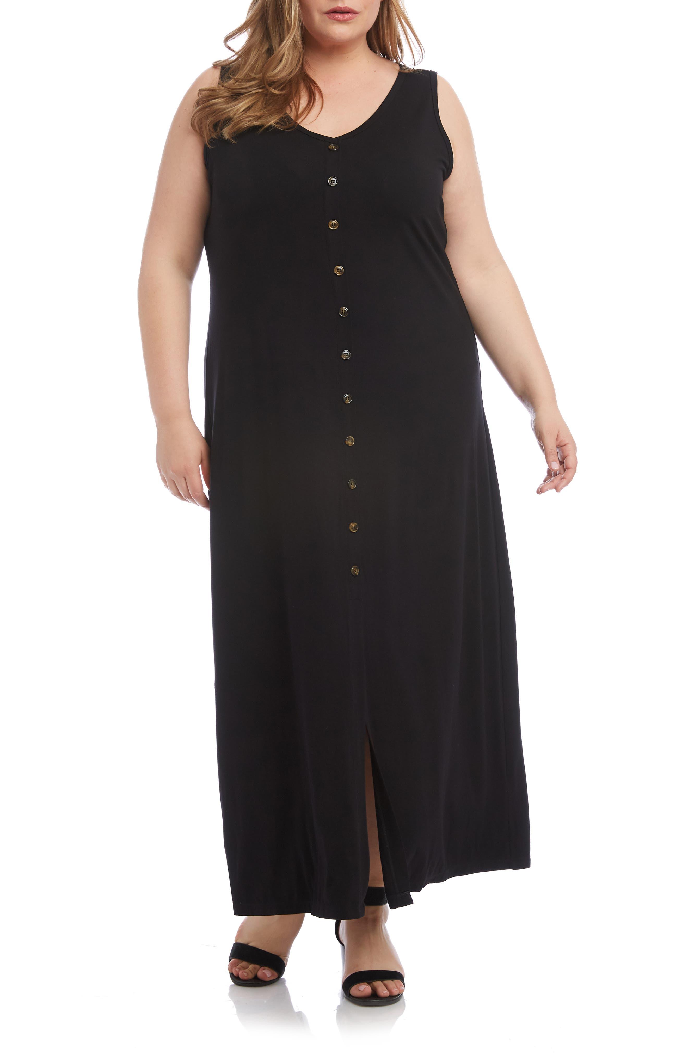 Plus Size Karen Kane Alana Maxi Dress, Black
