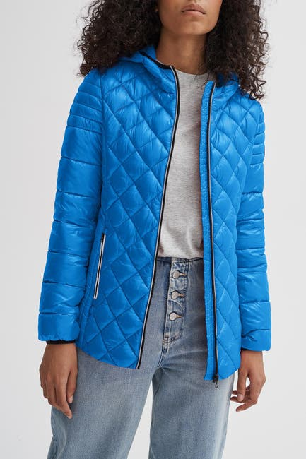 Image of NOIZE Stella Hooded Quilted Lightweight Puffer Jacket