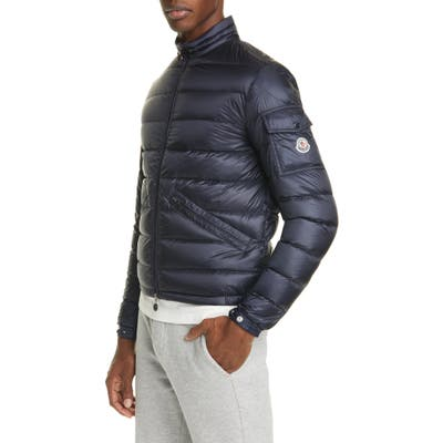 Moncler Quilted Nylon Down Jacket, Blue