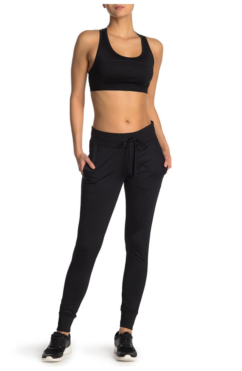 Z BY ZELLA From The Top Daily Joggers, Main, color, BLACK