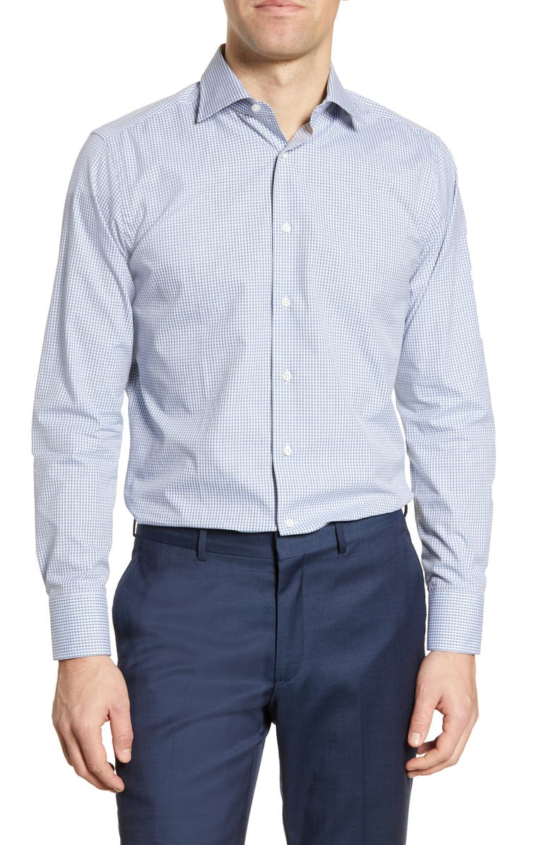 CANALI Regular Fit Check Dress Shirt, Main, color, 400