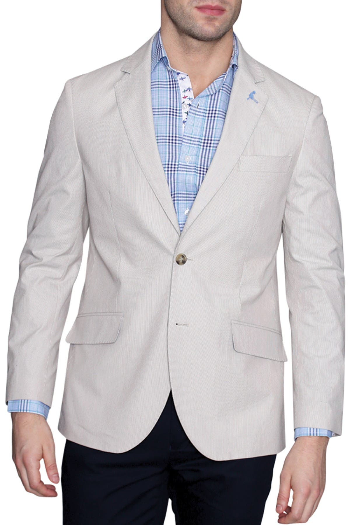 Image of TailorByrd Pincord Woven Two Button Notch Lapel Modern Fit Sport Coat