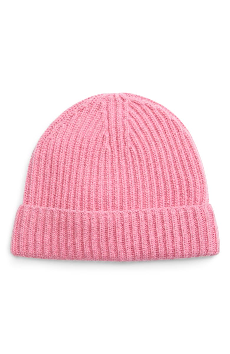 ENTIREWORLD Recycled Cashmere Blend Beanie, Main, color, PINK