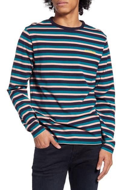 Saturdays Surf Nyc T-shirts ALEK STRIPE LONG SLEEVE T-SHIRT