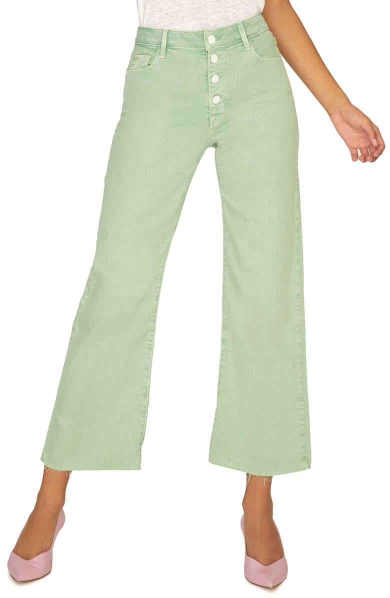 SANCTUARY Non Comformist Button Fly Wide Leg Jeans, Main, color, 311