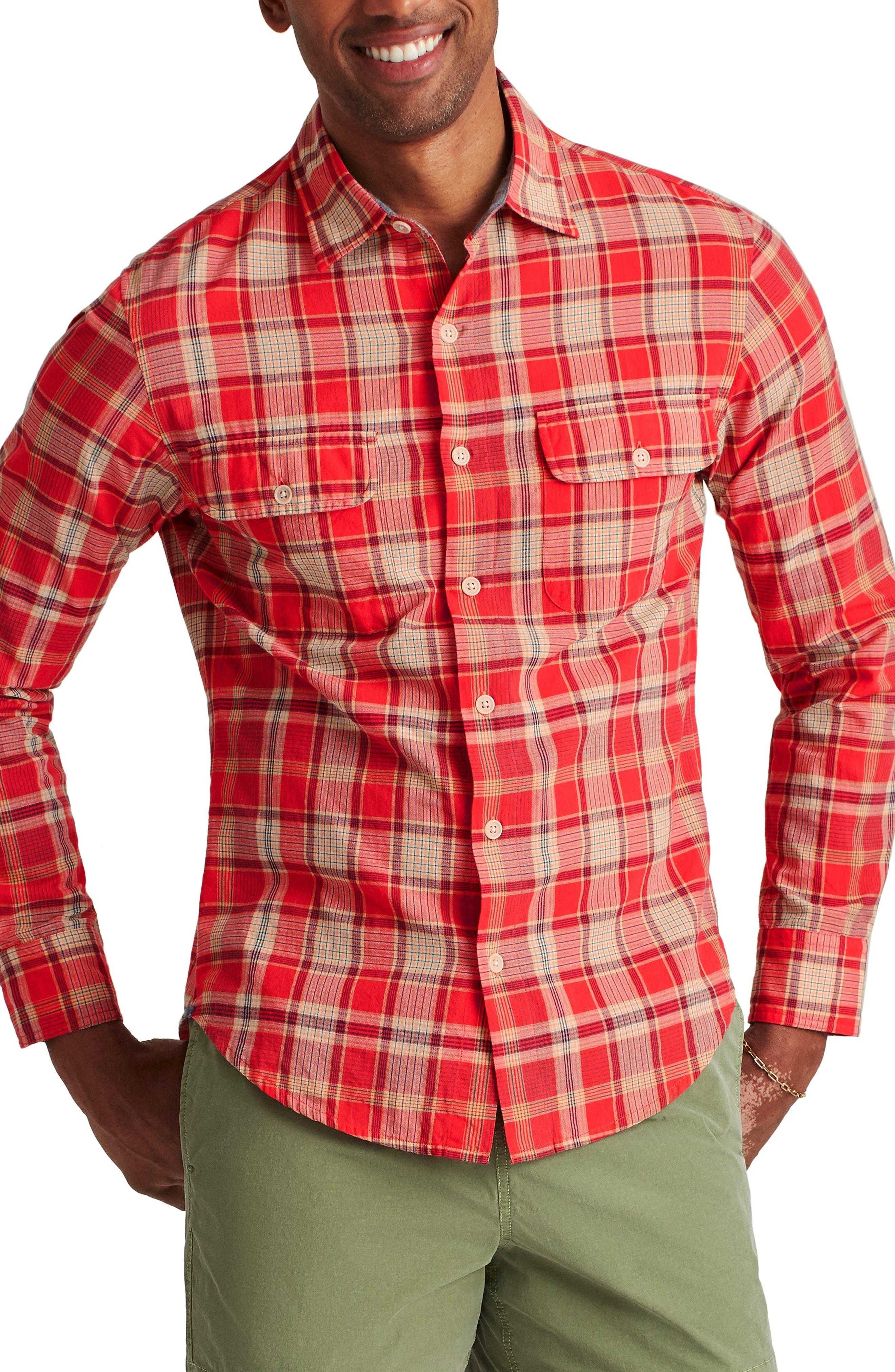 Madras Slim Fit Plaid Button-Up Shirt