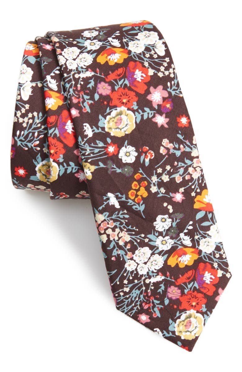 1901 Sefton Floral Cotton Tie, Main, color, 200