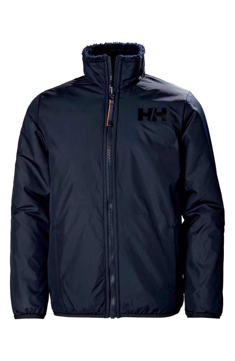 HELLY HANSEN Reversible Fleece Jacket, Main, color, NAVY