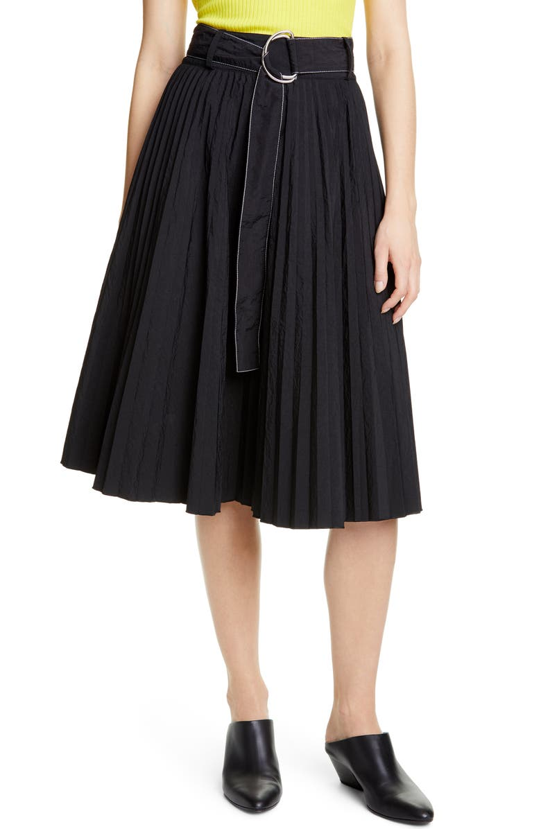 PROENZA SCHOULER WHITE LABEL Proenza Schouler PSWL Belted Parachute Skirt, Main, color, BLACK