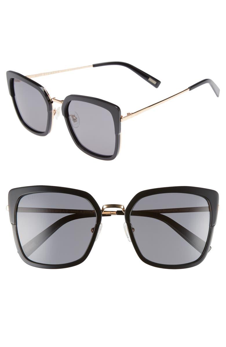DIFF Skye 52mm Polarized Sunglasses, Main, color, 001