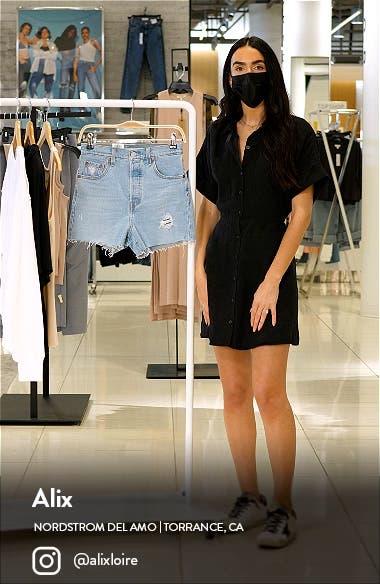 Ribcage High Waist Cutoff Denim Shorts, sales video thumbnail