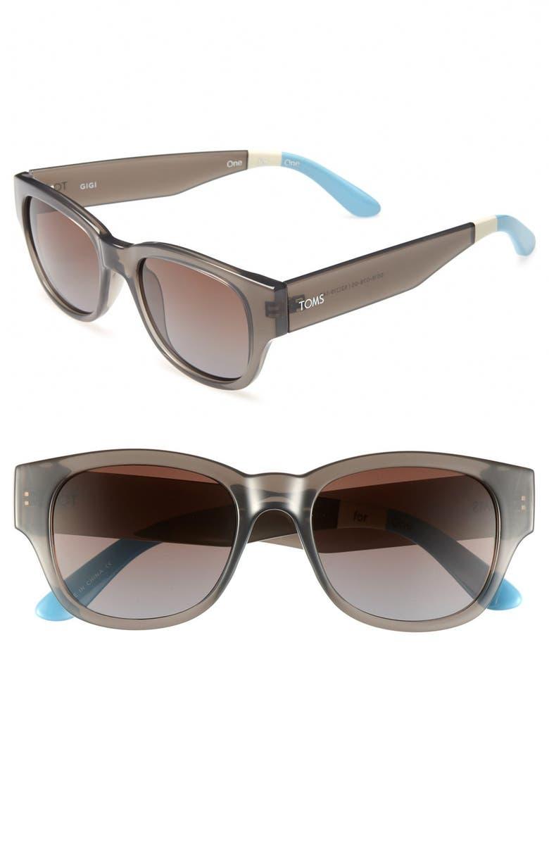 TOMS 'Gigi' 52mm Sunglasses, Main, color, 020