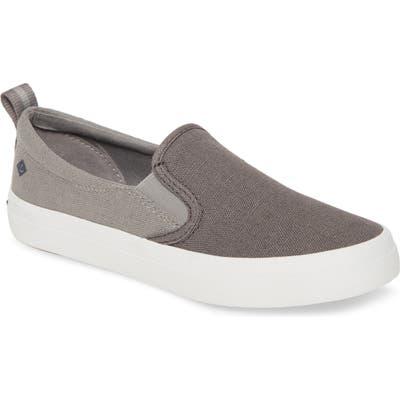 Sperry Crest Twin Gore Slip-On Sneaker, Grey