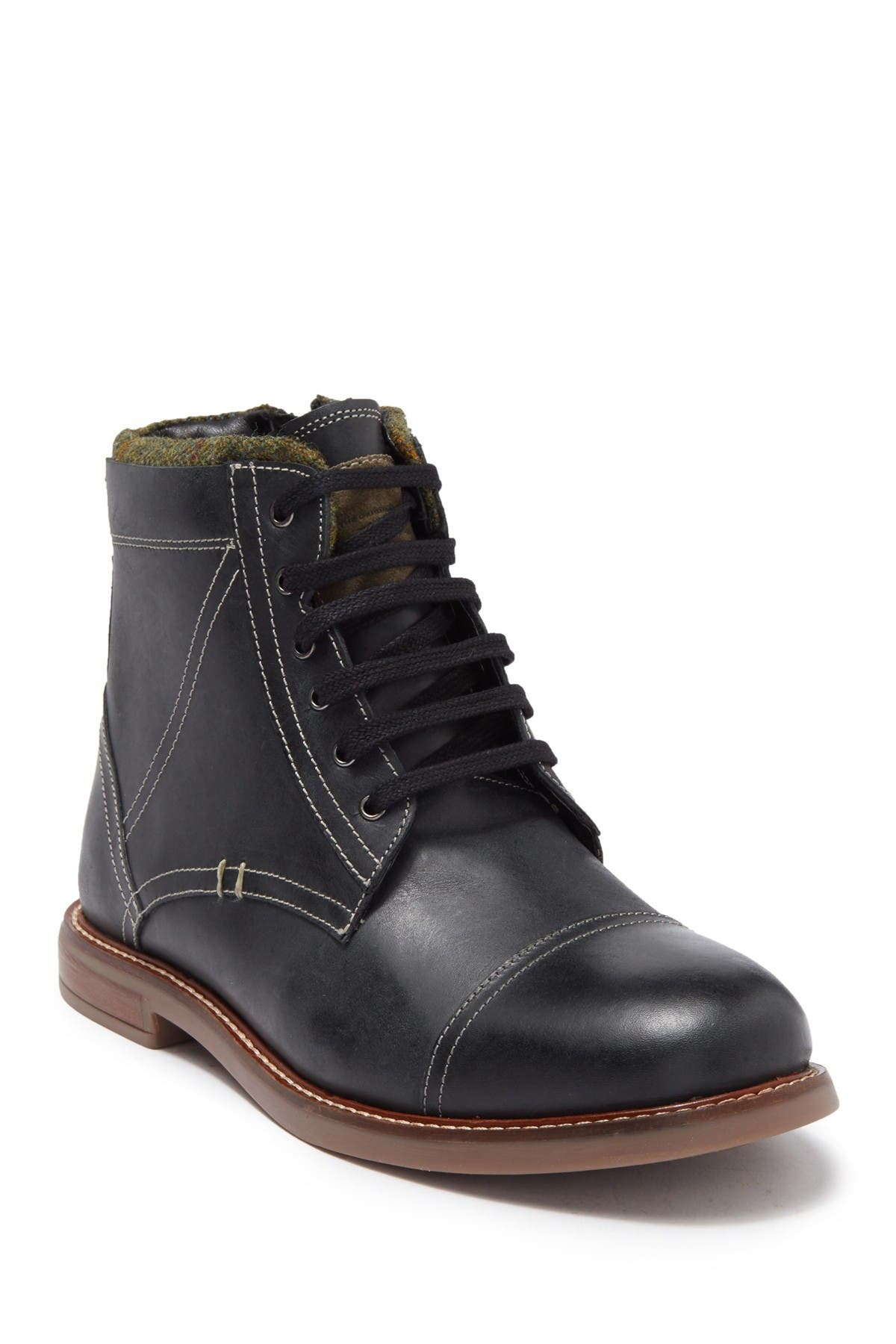 Image of Ben Sherman Luke Cap Woven Collar Toe Boot