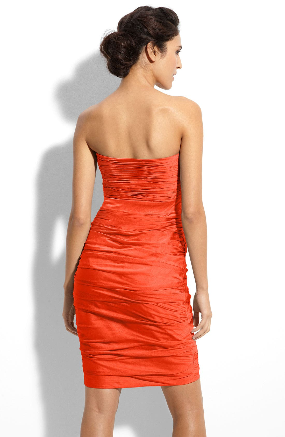 ,                             Ruched Strapless Cationic Chiffon Dress,                             Alternate thumbnail 72, color,                             800