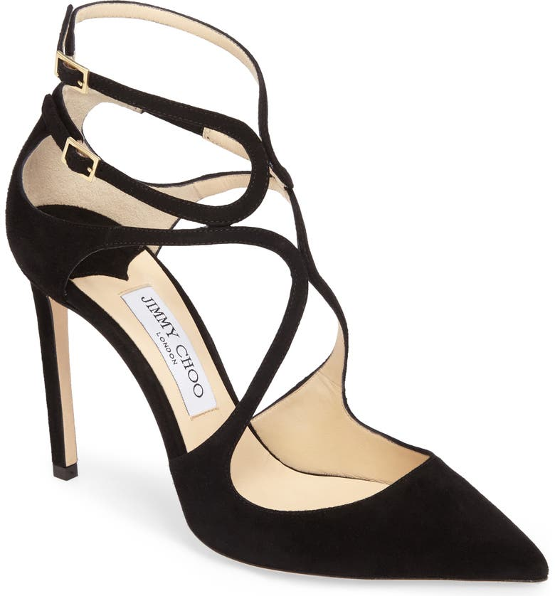 JIMMY CHOO Lancer Strappy Pump, Main, color, 001