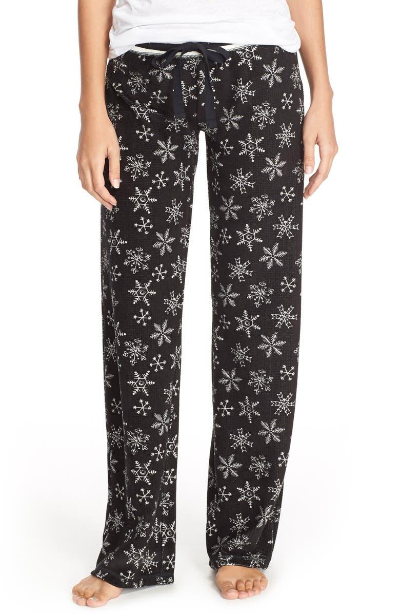 PJ SALVAGE Thermal Knit Lounge Pants, Main, color, 001