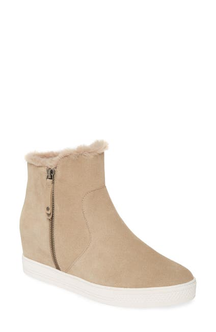 Image of Caslon Averie Faux Fur Lined Hidden Wedge Water Resistant Bootie