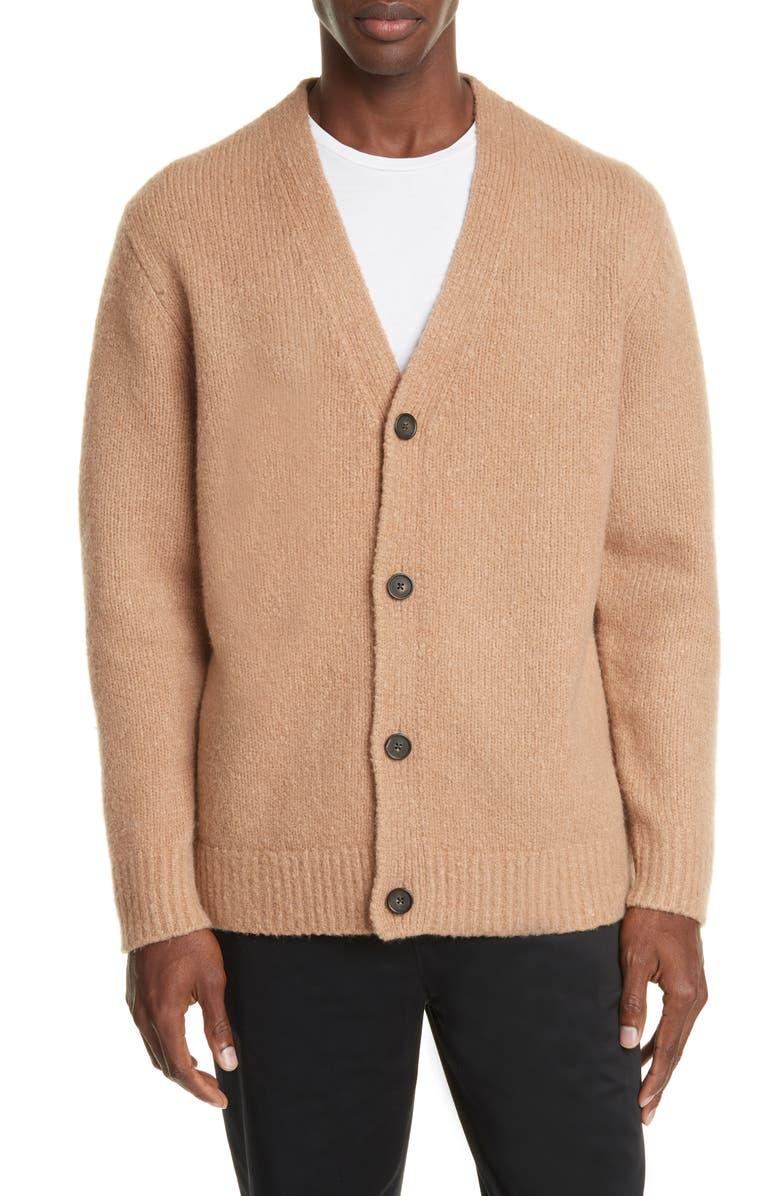 ACNE STUDIOS Kabelo Wool & Cashmere Blend Cardigan, Main, color, LIGHT BROWN