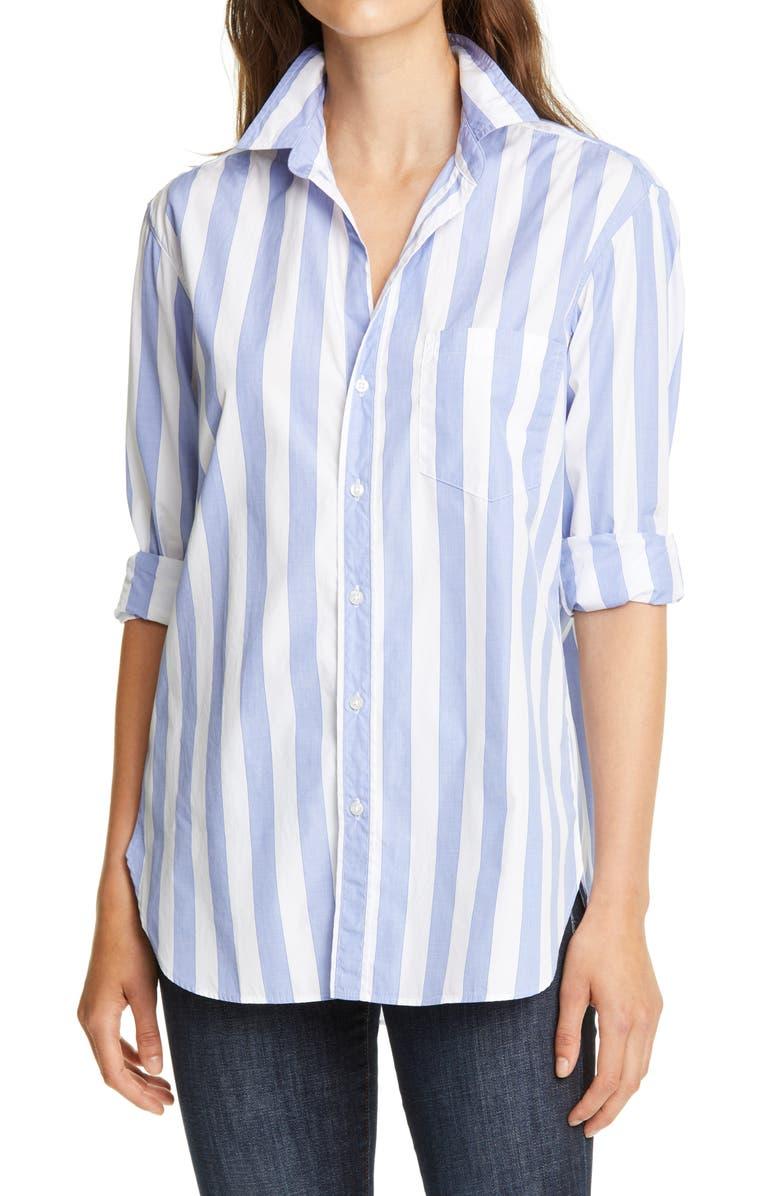 FRANK & EILEEN Joedy Stripe Shirt, Main, color, WIDE BLUE STRIPE SUPERFINE