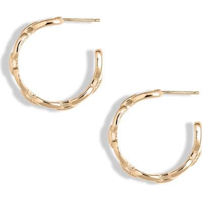 Jennifer Zeuner Carmine Small Hoop Earrings