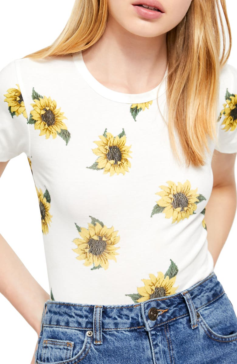 BDG Urban Outfitters Sunflower Tee, Main, color, IVORY