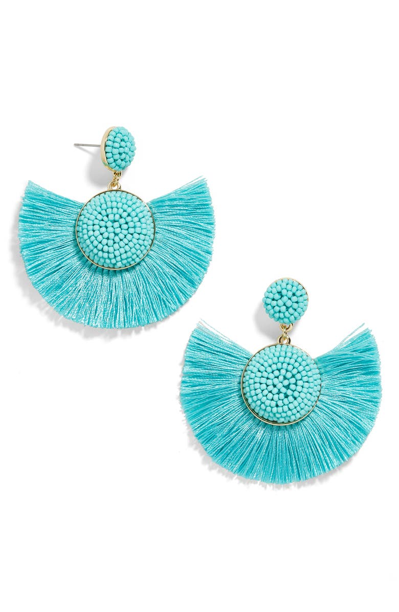 BAUBLEBAR Marinella Beaded Drop Earrings, Main, color, TURQUOISE