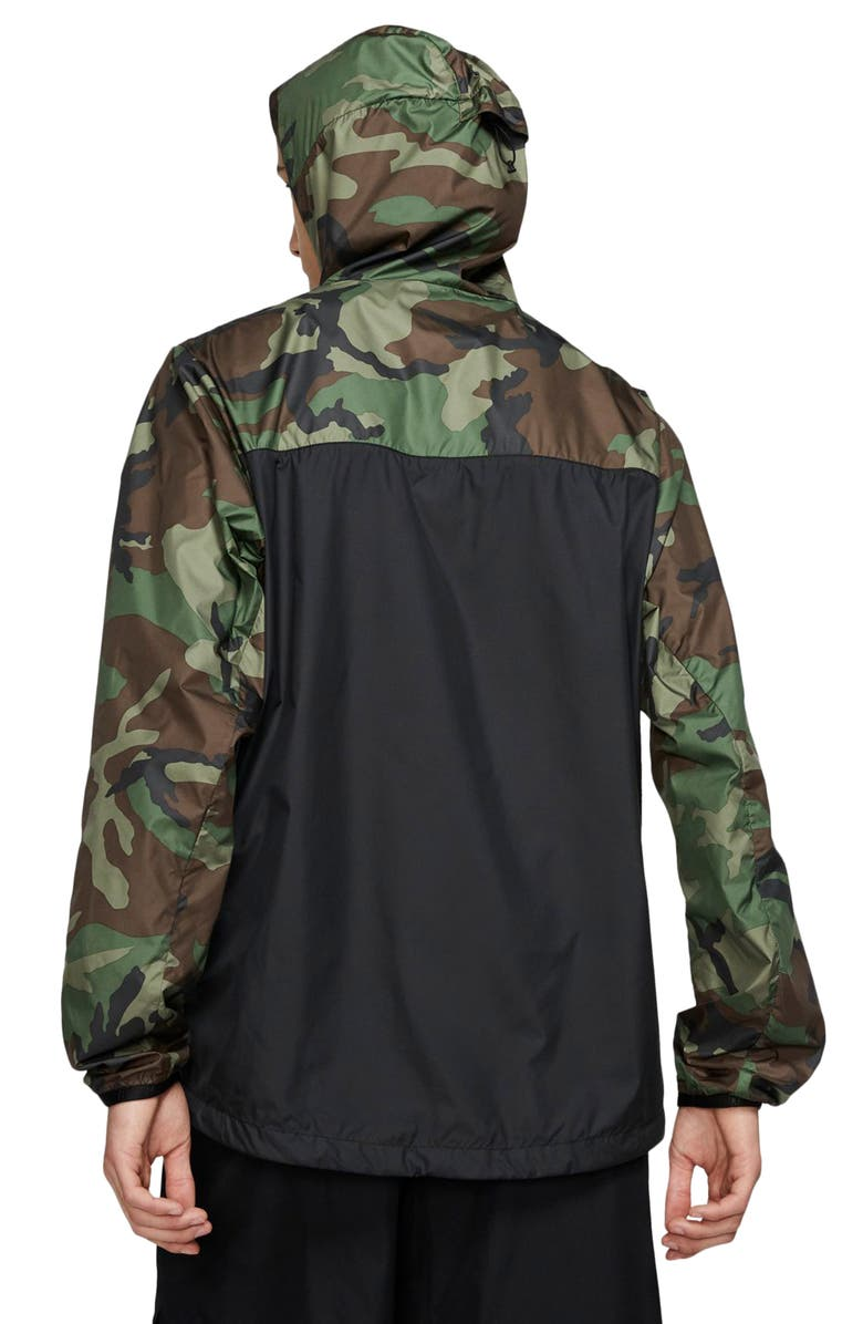 NIKE SB Camo Packable Hooded Anorak, Main, color, 300