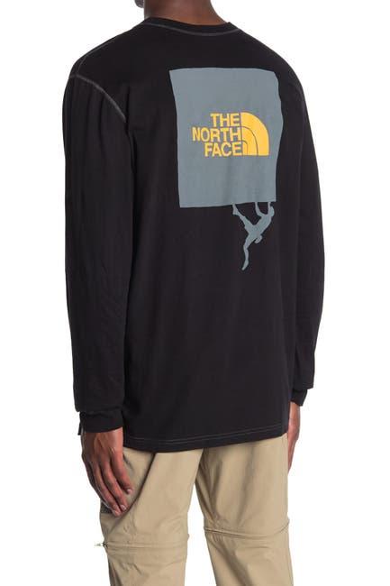 Image of The North Face Dome Climb Logo Print Long Sleeve T-Shirt