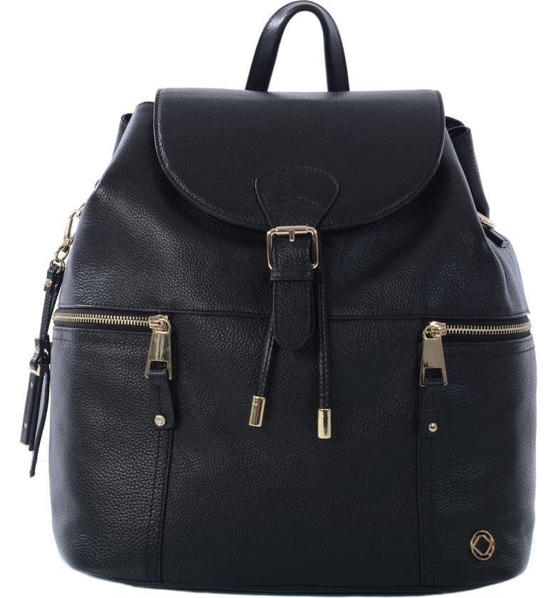 KERIKIT Thor Leather Backpack, Main, color, 001