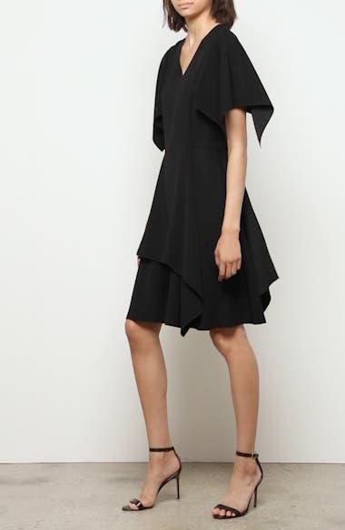 Flutter Sleeve Crepe Dress, video thumbnail