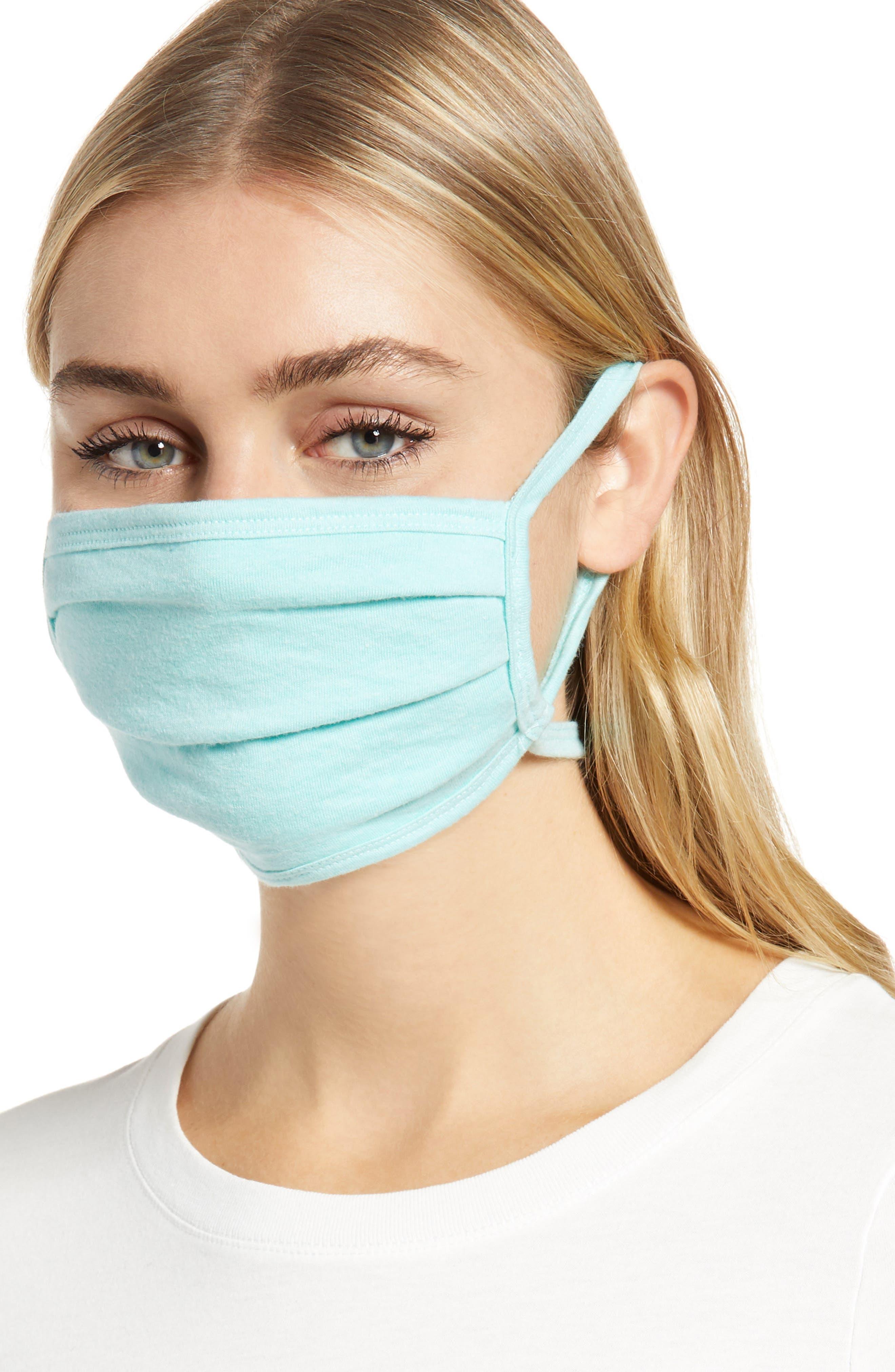 Image of Nordstrom Heathered Non-Medical Adult Face Masks - Set of 4
