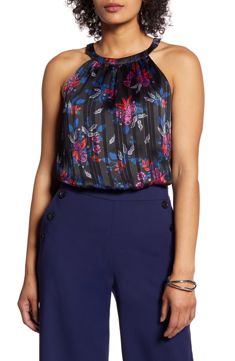 HALOGEN<SUP>®</SUP> Sleeveless Tie Back Top, Main, color, 001
