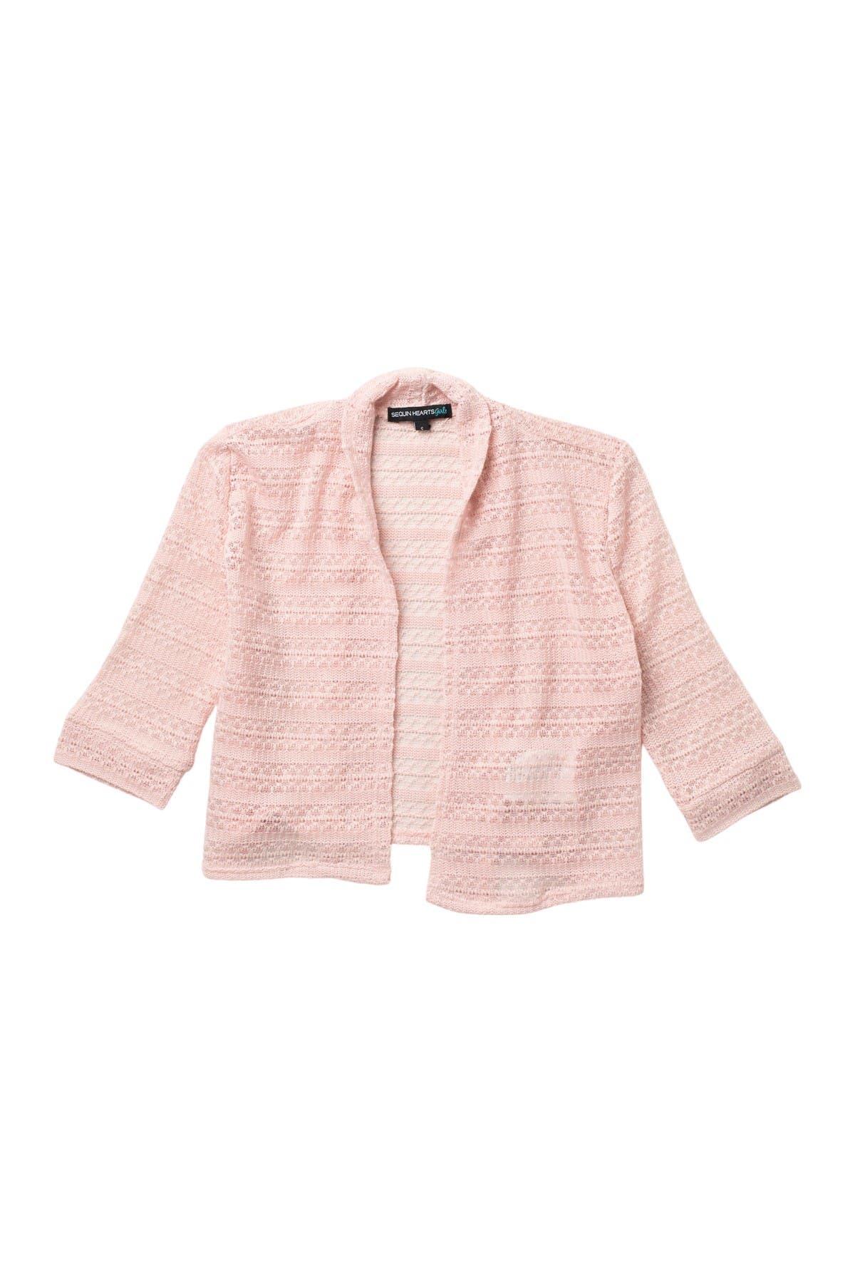 Image of mymichelle Pointelle Shrug Sweater