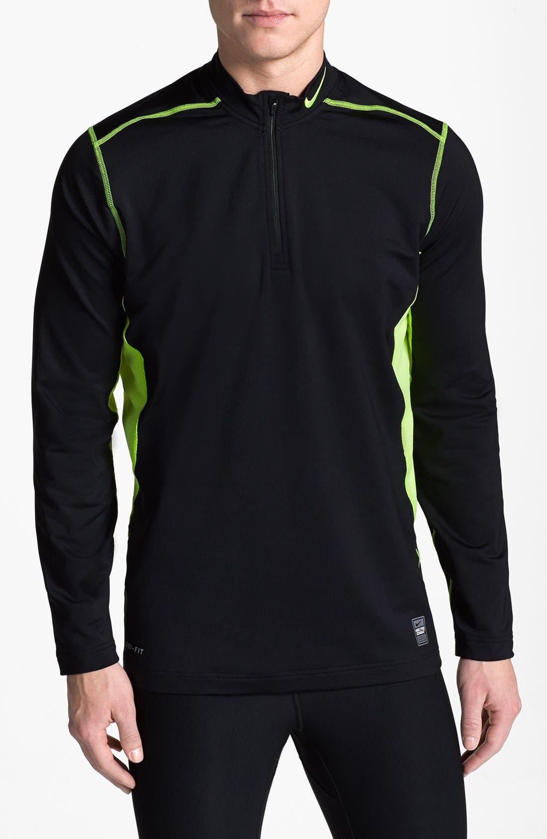 Nike Mens Hyperwarm Dri-fit Max Quarter-Zip Hoodie