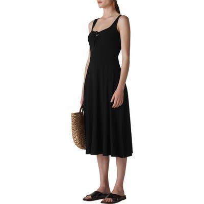 Whistles Paulette Sleeveless Jersey Midi Dress, US / 6 UK - Black