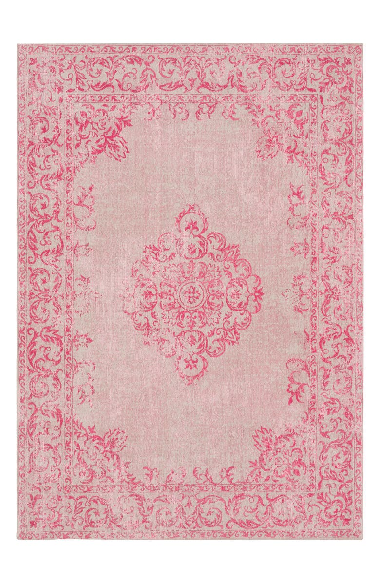 SURYA HOME Amsterdam Medallion Area Rug, Main, color, BRIGHT PINK