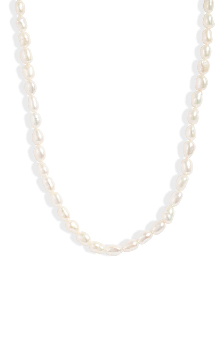 LOREN STEWART Del Mar Pearl Necklace, Main, color, SILVER