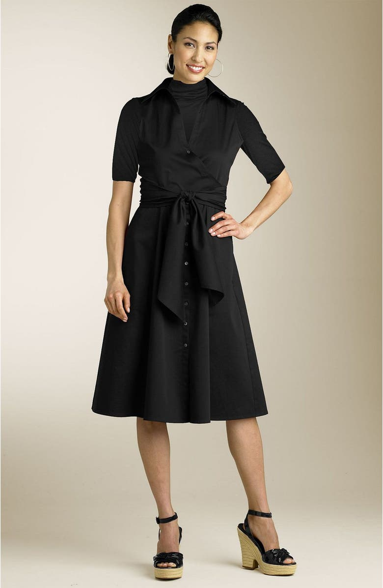 REACTION KENNETH COLE Kenneth Cole Reaction Sleeveless Wrap Dress, Main, color, BLK