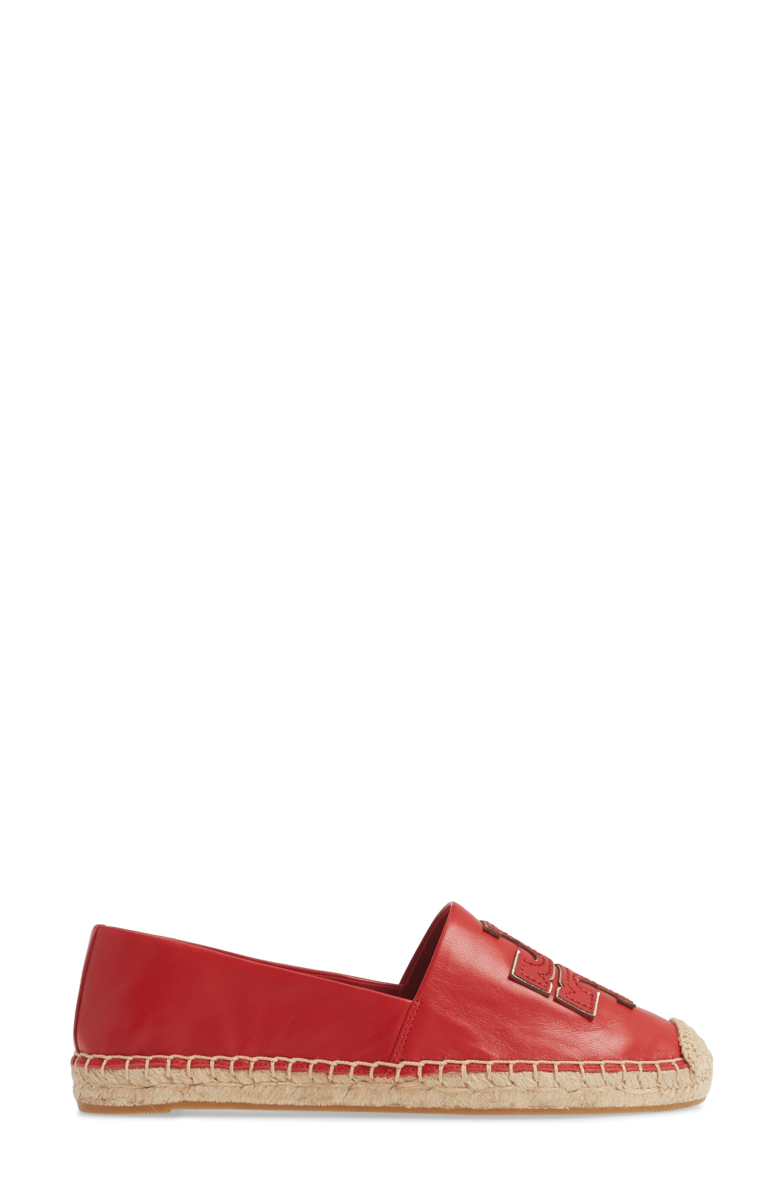 ,                             Ines Espadrille,                             Alternate thumbnail 3, color,                             BRILLIANT RED/ BRILLIANT RED