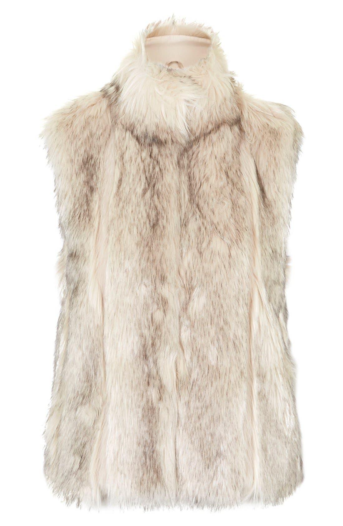 ,                             'Polo Leah' Faux Fur Vest,                             Alternate thumbnail 4, color,                             900