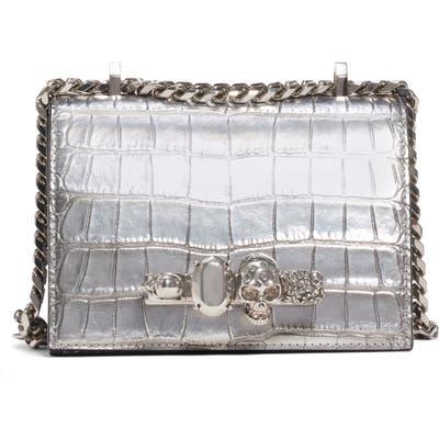Alexander Mcqueen Small Metallic Leather Crossbody Bag - Metallic