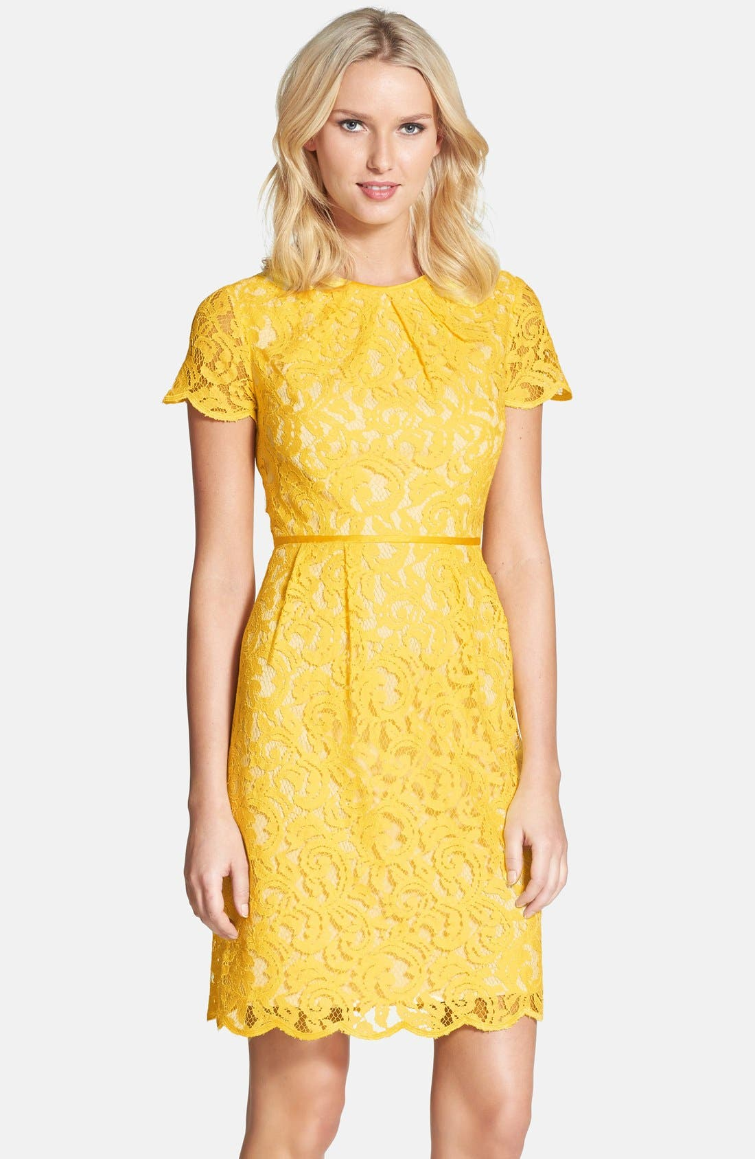 ,                             Scalloped Lace Dress,                             Main thumbnail 30, color,                             700