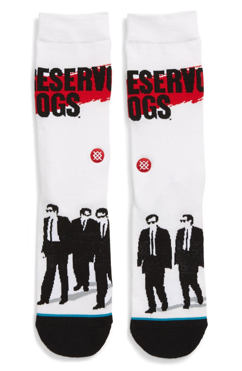 STANCE Reservoir Dogs Socks, Main, color, WHITE